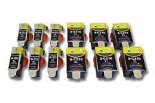 12x Cartouche + Chip noir couleur pour Samsung CJX-2000 / CJX-2000FW