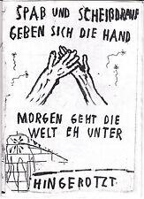 Punk Fanzine Spaß und Scheißdrauf ca. 1996 Hellboozers Unholy Grave In/Humanity