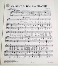 Partition sheet music JACQUES LARUE / LOUIGUY : Ca Sent si Bon la France * 40's