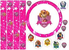 """Comestible Skye 6"""" Paw Patrol Icing Cake Topper Comestible ruban + Cupcake Toppers"""