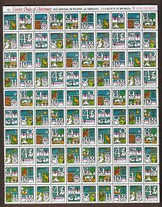 USA STAMPS- Christmas seal stamps  1973, complete sheet of 100     MNH**