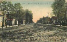 1914 Northwood North Dakota Residence Street Bilden hand colored postcard 11461