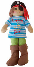 Personalised Name Gift  Pirate Boat Ship Anchor Boy Rag Doll 45cm Childs Toy