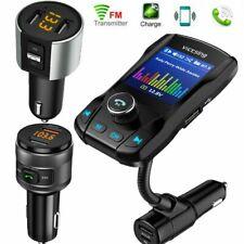VicTsing Car Bluetooth FM Transmitter USB Radio Adapter Music Player AUX TF Card
