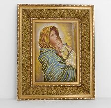 St Mary with Jesus / Christian wall frame / Home decorative
