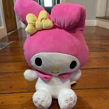 "NWT Round One 1 Plush 16"" Hello Kitty Pink Jester Rabbit My Melody Sanrio Soft"