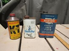 Vintage ALLSTATE, DUTCH BOY, ALEMITE Tin Cans SEARS ROEBUCK Co