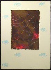 """Scott Sandell """"(Umber) Ciphers"""" Signed & Numbered Mixed Media Artwork MAKE OFFER"""