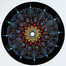 disc-mandala 10 / vinyl record mandala art handmade painting