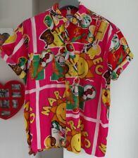 MOSCHINO shirt spellout Wavey très rare vintage M crème glacée