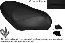 BLACK STITCH CUSTOM FITS PGO RODOSHOW 50 DUAL LEATHER SEAT COVER ONLY