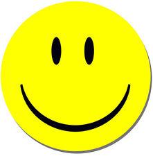 Smiley Face Rond Tapis de souris jaune heureux. Tapis de souris