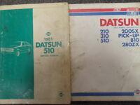 1981 Datsun 510 Shop Service Repair Manual SET DEALERSHIP FACTORY OEM BOOK 81