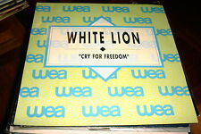 """WHITE LION SPANISH PROM0 7"""" SINGLE SPAIN CRY FOR FREEDOM - HARD ROCK HEAVY METAL"""