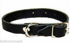 DEBEN REPLACEMENT SPARE BLACK LEATHER FERRET COLLAR ONLY - FERRETING RABBITING