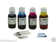 4X100ML Refill ink for HP 21 22 56 57 74 74XL 75 92 93 94 95 96 syringe+gloves