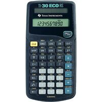 Texas Instruments TI-30 ECO RS Single Line Scientific Calculator - Solar Powered