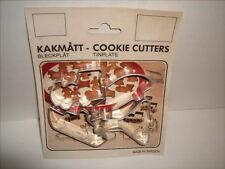 Kakmatt Vintage Miniature Cookie Cutters Tinplate Sweden Airplane Boat Train Car