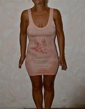 bonito vestido rosa ED HARDY flying águila talla XS NUEVA ETIQUETA