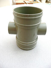 """""""SWV"""" 4""""/110MM SOIL DRAIN DRAINAGE PIPE FITTING 2 x 50MM WASTE BOSSED 121.4.15"""
