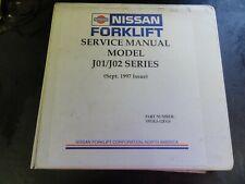 Nissan J01 J02 Series Forklift Service Manual   1997