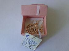 Vintage Soviet Solid Rose Gold Earrings 14K 583 Star Hammer Russian USSR 4.95 gr