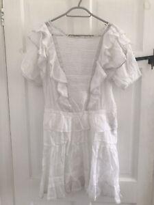 Isabel Marant White Ruffle Dress Size 40