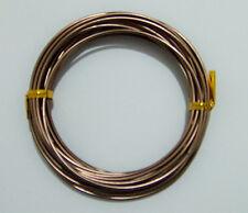 6mt  di filo in alluminio 2mm colore marrone bijoux
