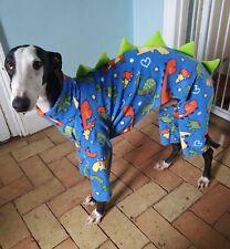 "dog pyjamas  Italian greyhound dinosaur all in one fleece size 13-15""dinosaur"