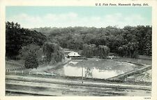 Vintage Postcard; U.S. Fish Farm Hatchery Mammoth Spring AR Fulton Co. Unposted