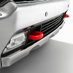 2020-2021 Chevrolet Silverado HD Front Red Tow Hook Pkg 84513877 Red Genuine GM
