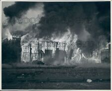 Grain Elevator Fire Rages Henderson Kentucky Press Photo