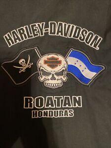 Roatan Honduras harley davidson shop shirt 3xl Xxxl
