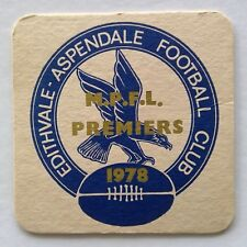 Edithvale Aspendale Football Club M.P.F.L. Premiers 1978 Coaster (B343)