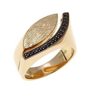 HSN Technibond Black Spinel Bypass Ring Size 8 SOLD OUT