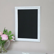 White ornate framed chalk board blackboard memo French shabby chic kitchen decor