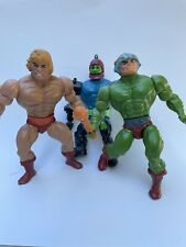 3 Vintage Action Figure Lot, 1981He-man, Masters Of The Universe Toys