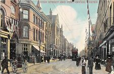 POSTCARD   DEVON    EXETER   High  Street  &  Post  Office