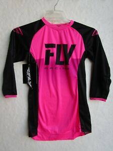 Women's Fly Racing LITE jersey YOUTH LARGE pnk/blk 372-628YL
