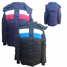 New Winter WARM Boys Jacket Detachable Hood Padded Coat Puffa Anorak 3-14 y #132