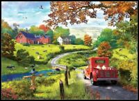 The Country Drive - Counted Cross Stitch Patterns Needlework for embroidery