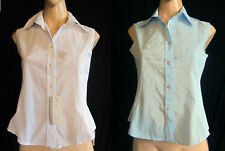 Cotton Blend Fitted Blouse Size Petite for Women