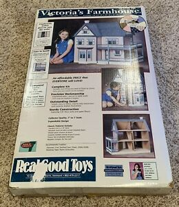 VTG REAL GOOD TOYS VICTORIA'S FARMHOUSE DOLLHOUSE KIT 1:12 WOOD