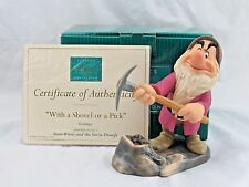 "WDCC ""With A Shovel or A Pick"" Grumpy from Snow White Signed in Box COA, Signed"