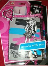 New monster high agenda with pen journal
