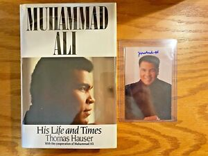 """Muhammad Ali Signed Book """"His Life And Times"""" True 1st Ed. Plus SIGNED Photo"""
