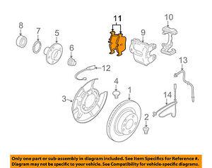 BMW OEM 10-13 328i xDrive Brake-Rear Pads 34216790761