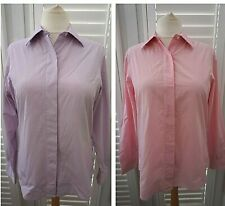 Bundle Two Turnbull and Asser Women's Shirts Purple Pink Gingham Office Size 14