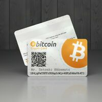 BTC Bitcoin Personalized Wallet Crypto Card - physical digital wallet card BTC