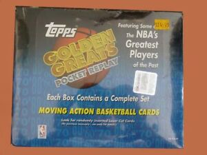 1998-99 TOPPS GOLDEN GREATS Pocket Replay BASKETBALL SEALED HOBBY BOX